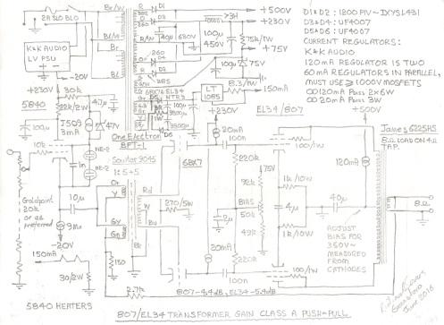 807 : EL34 Transformer Coupled Class A PP